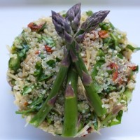 Sun-Dried Tomato and Hemp Heart Quinoa Salad